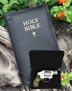 Conceal Carry Semi Hard Shell Bible Gun Case With Lock For Small Guns Gts