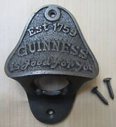 Cast Iron Vintage Rustic Old Retro Collectable Wall Mounted Beer Bottle Openers