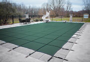 Loop Loc Green Mesh Rectangle Swimming Pool Safety Covers - Choose Size