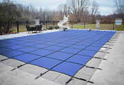 Loop Loc Blue Mesh Rectangle Swimming Pool Safety Covers - Choose Size