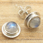 Wholesale 5, 10, 100 Pairs Stud Earrings, Moonstone Silver Plated Lot Jewelry