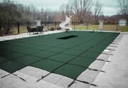 Loop Loc Ultra Loc Iii Green Solid Swimming Pool Safety Covers W/ Drain And Step