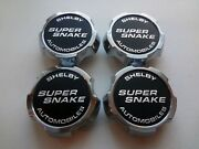 Set 4 Oem Shelby Super Snake Wheel Center Caps Raised Gt500 Gt500kr 20 Alcoa