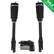 3 Piece Air Suspension Kit Front Shocks And Compressor For Mercedes Benz New