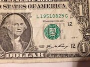 Fancy Currency Serial Number L 1951-08-25 G August 25 1951 B-day Anniversary