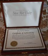 United States 30 Years Mint Half Dollar Coins With Cert And Wood Box Display