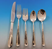 Silver Wheat By Reed And Barton Sterling Silver Flatware Service 6 Set 33 Pieces