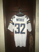 Mens Reebok Size 52 Eric Weddle San Diego Chargers Nfl Football Jersey Sewn
