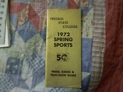1972 Fresno State Baseball Media Guide Yearbook Program Golf Track And Field Ad