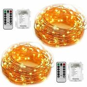 Yihong Fairy String Lights Battery Operated Set Of 2 Copper Wire String Lights