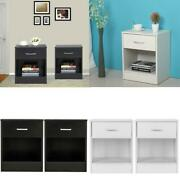 Modern Nightstands End Table Shelf With Drawer Bedroom Furniture