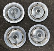 4 1970's Ford Thunderbird Oem T-bird Hubcaps Wheel Covers Vintage Caps