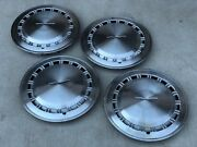4 Ford Thunderbird Oem T-bird Hubcaps Wheel Covers Vintage Caps Antique