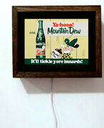 Mountain Dew Mt Soda Store Hillbilly Tickle Your Innards Light Lighted Sign