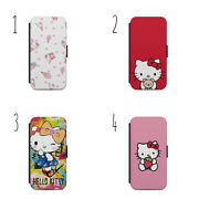 Hello Kitty Cartoon Pattern Cute Gift Wallet Phone Case For Apple Iphone