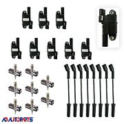 Ignition Coil Package 8 Ignition Coils+ 8 Bosch Spark Plugs + 8 Spark Plug Wires