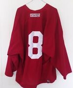 Phoenix Coyotes Red 8 Ccm Practice Jersey Worn By Upshall/brule/cleary/kapanen