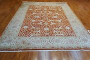 8and039 X 10and039 Hand Knotted India Agra Rug 100 Quality Wool Pile