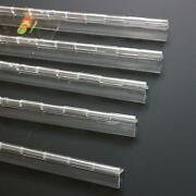 Pack Of 5 Transparent Clear Plastic Acrylic 300mm Continuous Piano Hinge Hinges