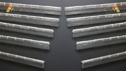 Pack Of 10 Transparent Clear Plastic Acrylic 300mm Continuous Piano Hinge Hinges