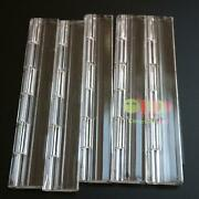 Pack Of 5 Transparent Clear Plastic Acrylic 200mm Continuous Piano Hinge Hinges