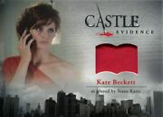 Castle Seasons 1 And 2 Wardrobe Card M07 Kate Beckett's Red Dress