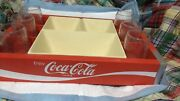 Coca Cola Prarty Tray / Plastic With Tray Inserts And 6 Embossed Glasses