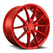 20x9f/10.5r Niche Sector M213 5x4.5 +35/40 Gloss Red Rims Set Of 4