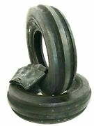 Two New 7.50-18 Front Tractor 3-rib 8 Ply Tire Fits Farmall With Tubes