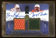 2013 Ud Barry Sanders / Jerry Rice Dual Autograph Game College Jersey D 2/5 Hof