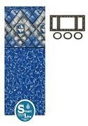 26 X 48 Octagon Manor Beaded Swimming Pool Liner For Esther Williams - 25 Gauge
