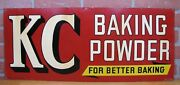 Old Kc Baking Powder Better Baking Country Store Display Sign Press Co St Louis