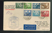 1934 Lohne Germany Catapult Cover Bremen To New York Usa Wagner Stamps Hi Value