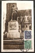 1930 Gniezno Poland Rppc Postcard Cover Bravery Monument On The Cathedral