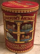 Vintage Old Logo Barnum Bailey Animal Biscuit Crackers Tin Container 2002 Caged