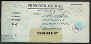 1944 Camp Mexia Texas Usa Prisoner Of War Pow Postcard Letter Cover To Germany