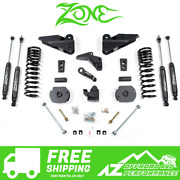 Zone Offroad 4 Suspension System Lift Kit For 14-18 Dodge Ram 2500 Gas D62n
