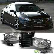 For 2008-2010 Honda Accord Coupe Driving Bumper Fog Lights W/switch Left+right