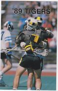 1989 Towson State University Tiger Lacrosse Pocket Schedule