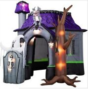 With Led Lights For Decoration Halloween 10ft Inflatable Haunted House New Zn