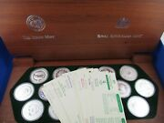 2000 Sydney Olympic 5 Silver Proof 16 Coin Collection. Complete. Heavy Box 2kg