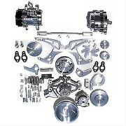 March Performance 21155 Style Track Serpentine Pulley/bracket Kit For Chevy Sb