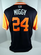 2018 Detroit Tigers Miguel Cabrera 24 Game Issued Blue Player's Weekend Jersey
