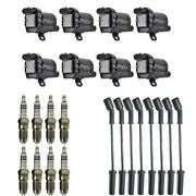 New Ignition Coil Pack 8 Herko Coils + 8 Bosch Spark Plugs + 8 Herlux Wires