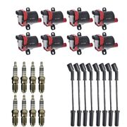 New Igntion Coil Pack 8 Herko Coils + 8 Bosch Spark Plugs + 8 Herlux Wires