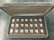 1984 Olympic Games Los Angeles Labatt Beer Pin Set All 21 Sports In Case