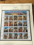 Us Stamp Scott 2870 Recalled Legends Of The West Sheet Issued 1994