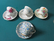 Tea Time Cups Saucers Roses - Lefton - Old Royal England - Blue Flowers Pick1