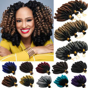 Uk Jamaican Bounce Twist Spiral Black Crochet Braid Ombre Hair Extensions 6 Inch