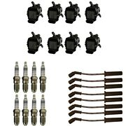 New Coil Pack 8 Ad Autoparts Coils + 8 Bosch Spark Plugs + 8 Acdelco Wires